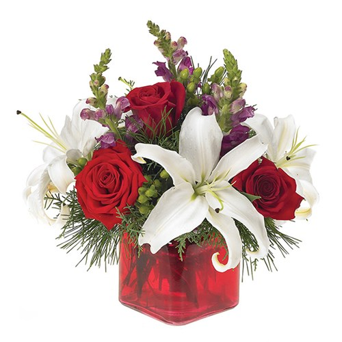 Holiday Greetings flower bouquet from Ingallina's Gifts
